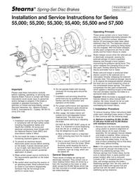 Stearns Spring-Set Disc Brakes 0 User Manual