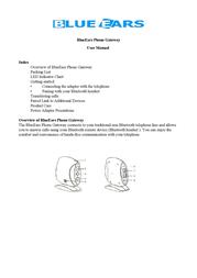 BlueEars Bluetooth Phone and VOIP Gateway (Black) BE-BPG-331 User Manual