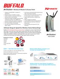 Buffalo AirStation Nfinity Wireless Broadband Router WZR-G300N-1 Leaflet
