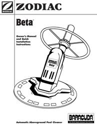 Zodiac BARACUDA User Manual