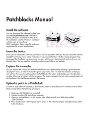 Pb Patchblocks Patchblock - Programmable Modular synthesizer and signal processing system PB1-001-M1-4-AU1 PB1-001-M1-4-AU1 Data Sheet
