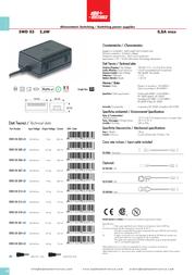 Alpha Elettronica SWD03-321-60 Leaflet