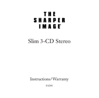 Sharper Image CD Stereo User Manual