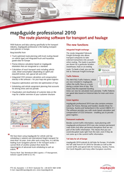 Map&Guide Professional 2010 Update ZK, Additional license, UK + IRE D0016-0504-0700 Leaflet