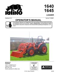 Rhinotek 1640 User Manual