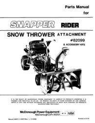 Snapper 82099 User Manual