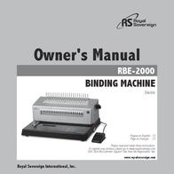 Royal Sovereign RBE-2000 User Manual