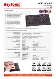 KeySonic ACK-3400 BT 18.02.2709 Leaflet