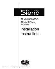 Sierra Control Panel S5832SG User Manual