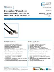 BTR NETCOM Cat6A, 5m 1308455044-E Data Sheet