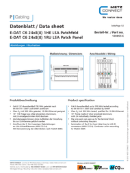 BTR NETCOM 130855-E Data Sheet