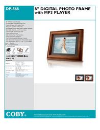"""Coby 8"""" (4:3) Digital Photo Frame DP888 Leaflet"""