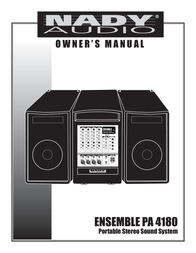 Nady Systems 4180 User Manual