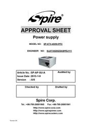 Spire Jewel 400W SP-ATX-400W-PFC User Manual