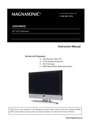 Magnasonic 26604MHD User Manual
