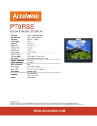 """Accuview 19"""" PT9RSE Leaflet"""