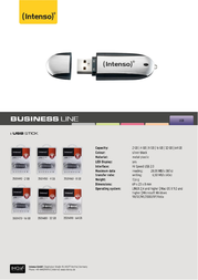 Intenso Business Line 32GB 3501480 Leaflet