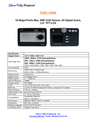 SVP cdc-1050 Specification Guide