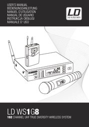 LD Systems 1G8 Funkmikrofon Headset Wirless Microphone LDWS1G8BPH Data Sheet