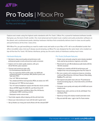 Avid Mbox Pro 9900-65137-00 Leaflet