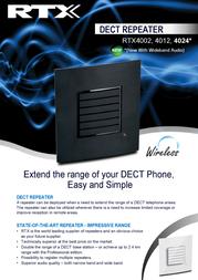 RTX RTX4012 Leaflet