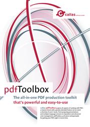 Callas pdfToolBox 4, Plug-In, f/ Adobe Acrobat 8, 9 10 User Lic Mac 1-00-38-229-010 Leaflet