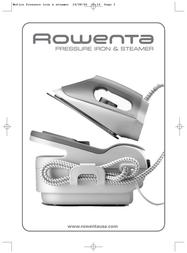 Rowenta Pressure iron & steamer User Manual