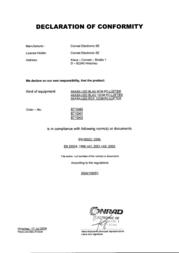 Akasa 8CM LED CASE FAN AK-170CB-4BLS Declaration Of Conformity