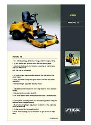 Stiga PARKPRO 16 Leaflet