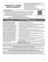 Whirlpool WTW5000DW Warranty Information