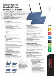 Draytek Vigor 2600 - ISDN -2600-I Leaflet
