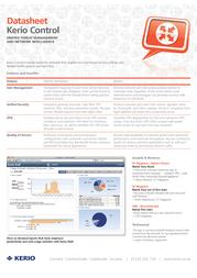 Kerio Control 7, Server 10 users (Legacy), AV Upgrade K91-061201 Data Sheet