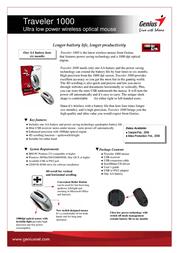 Genius Traveler 1000 31030415102 User Manual