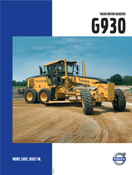 Volvo MOTOR GRADERS G930 User Manual