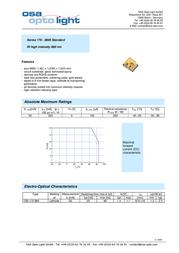 Osa Opto IR emitter 875 nm 140 ° 0805 SMD OIS-170 880-X-T OIS-170 880-X-T Data Sheet
