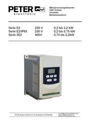 Peter Electronic 2B000.23006 VB 230-6L Brake Device VersiBrake 2B000.23006 Data Sheet