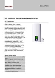STIEBEL ELTRON DHE 18/21/24 SL 227490 Data Sheet
