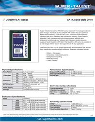Super Talent Technology 16GB DuraDrive AT SATA 35 SSD FSD16GC35M User Manual