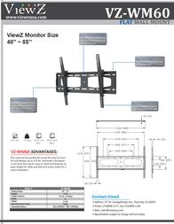 ViewZ VZ-WM60 Leaflet