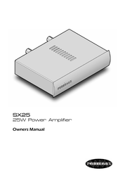 Perreaux SX25 User Manual