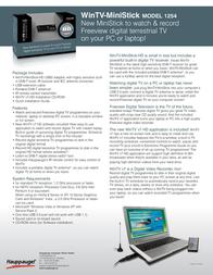 Hauppauge WinTV-MiniStick 01364 Leaflet
