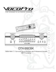 Vocopro DTX-9909K User Manual
