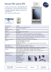 Yakumo Alpha GPS ALPHAGPS_UK Leaflet