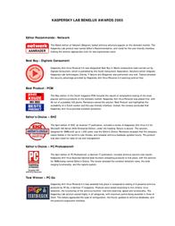 Kaspersky Lab Kaspersky Anti-Hacker BOX, NL 4043 Leaflet