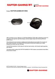 Raptor Gaming M1 Iron 601 Leaflet