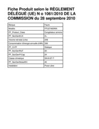 Faure FFU27400WA Leaflet