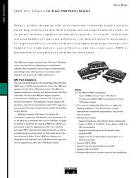 Cisco Port Adapter 8p ISDN BRI PA-8B-S/T= Data Sheet