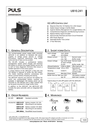 Puls UB10.241 UPS Specification Guide