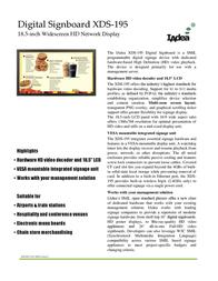 Iadea XDS-195 Leaflet