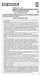 Universal CD-9775 User Manual
